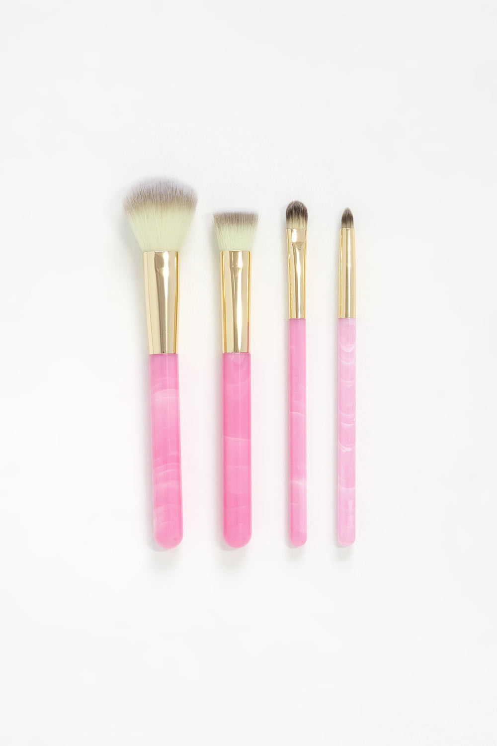 Marble 4-Piece Brush Set Pink
