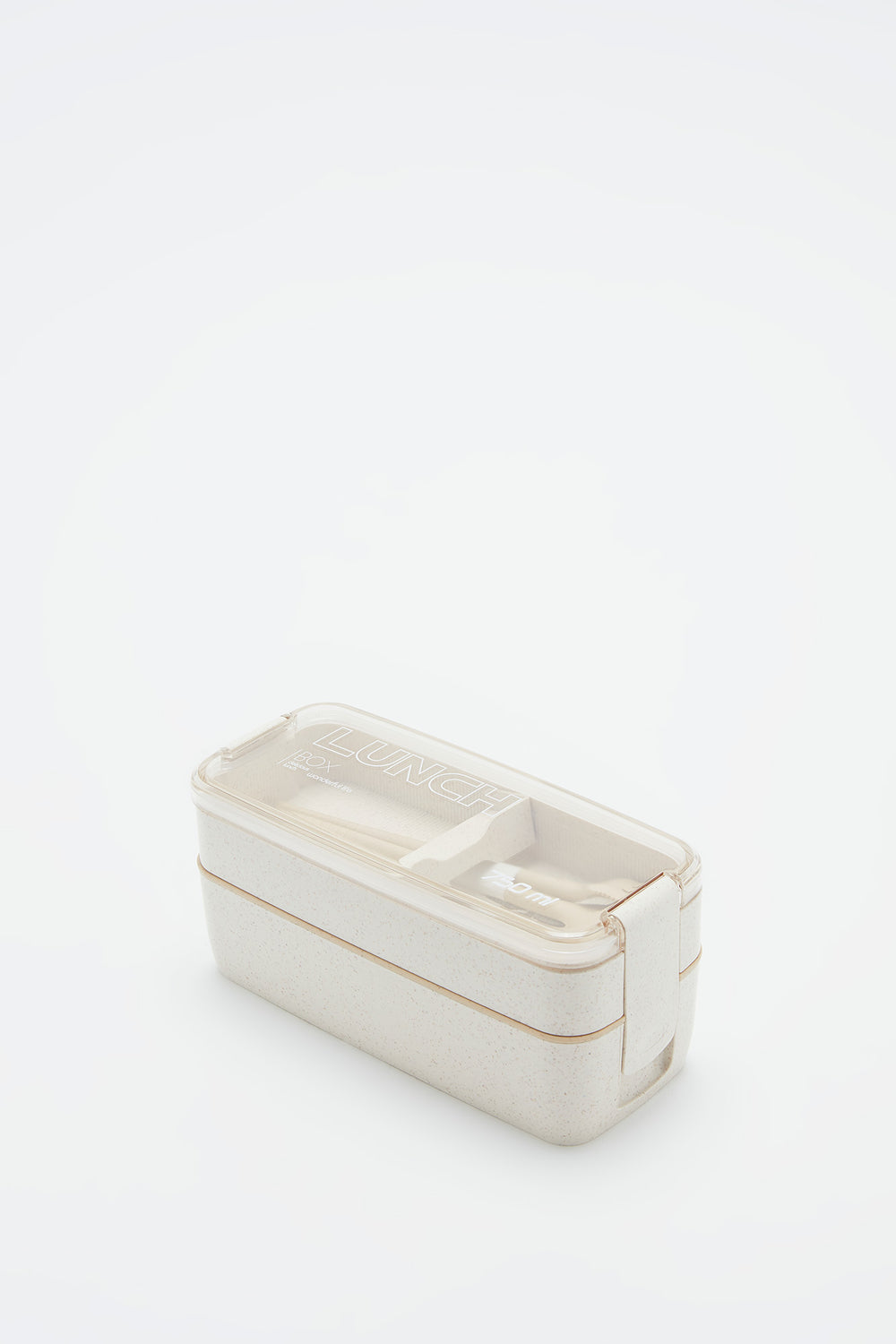 Eco-Friendly Double Layer Lunch Box Natural