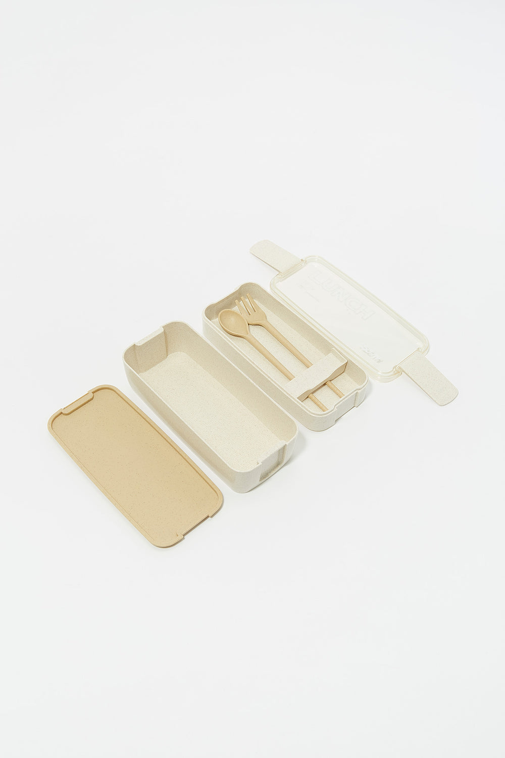 Bamboo Lunch Container with Cutlery Natural
