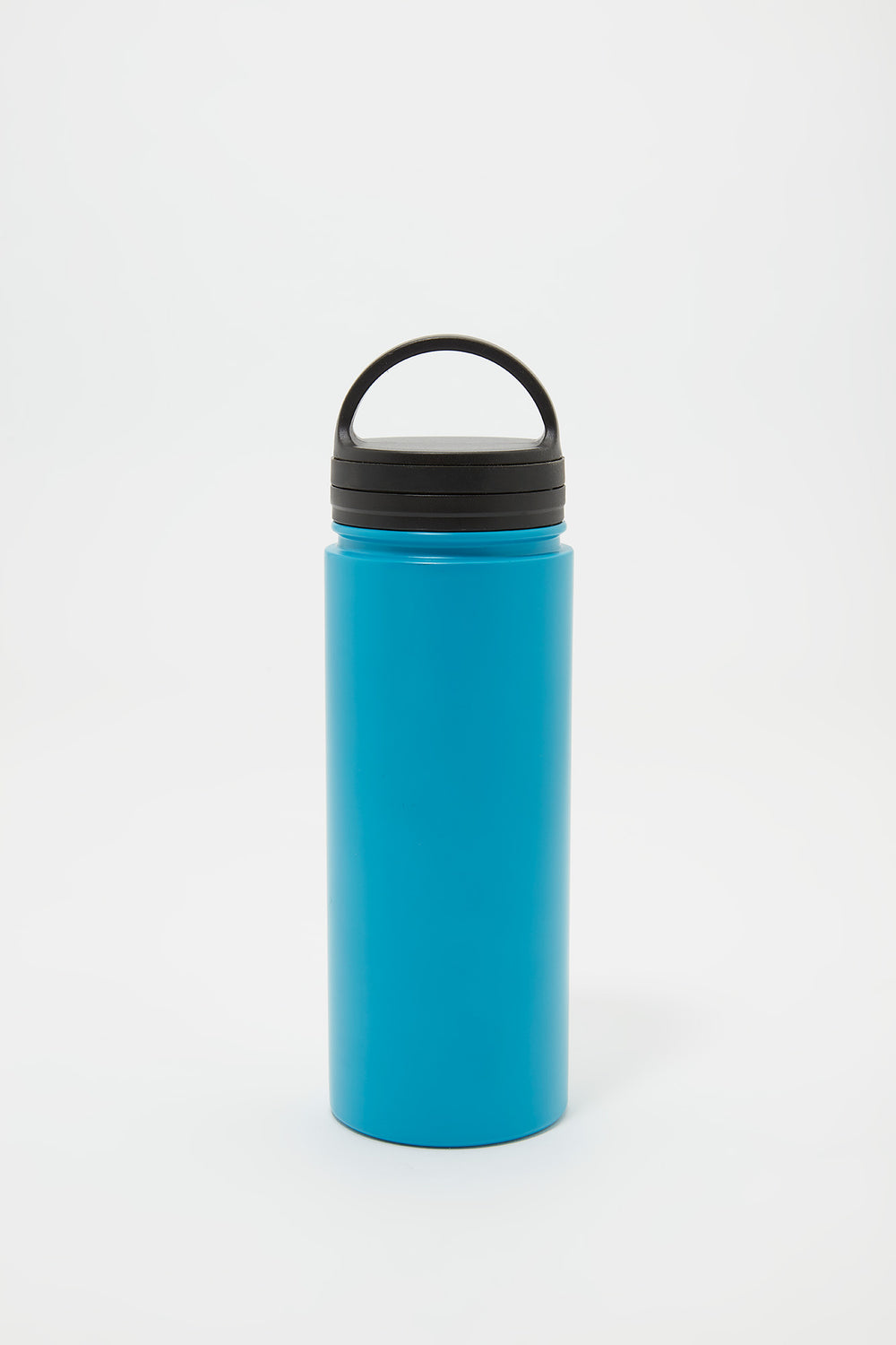 Double Wall Insulated Metal Twist Top Water Bottle Blue