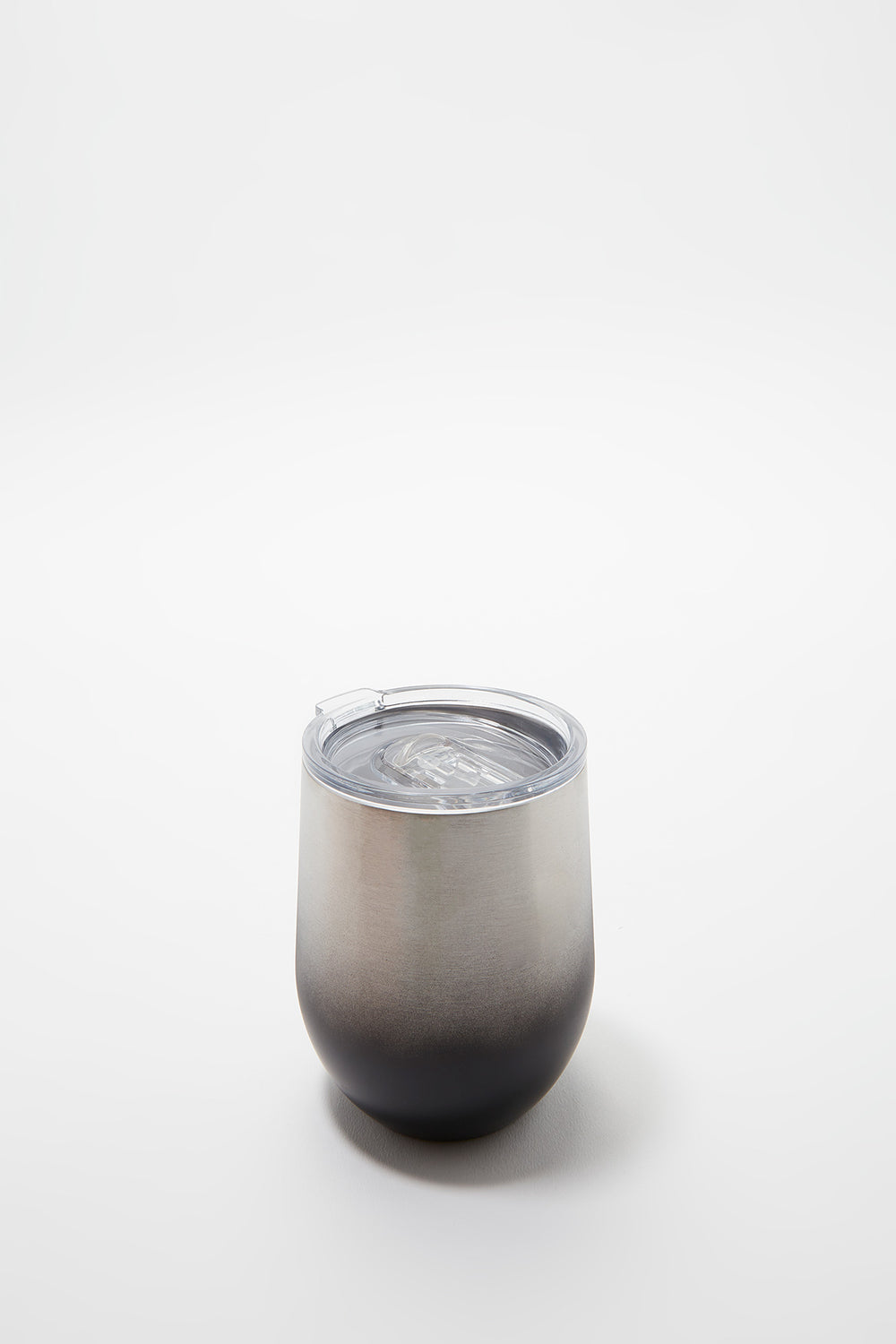 Ombré Double Wall Insulated Stainless Steel Wine Tumbler Black