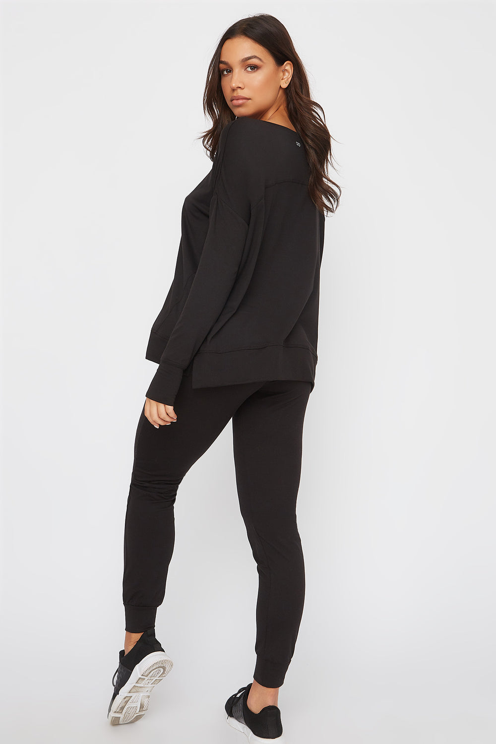 Infinite Oversized Active Long Sleeve Black