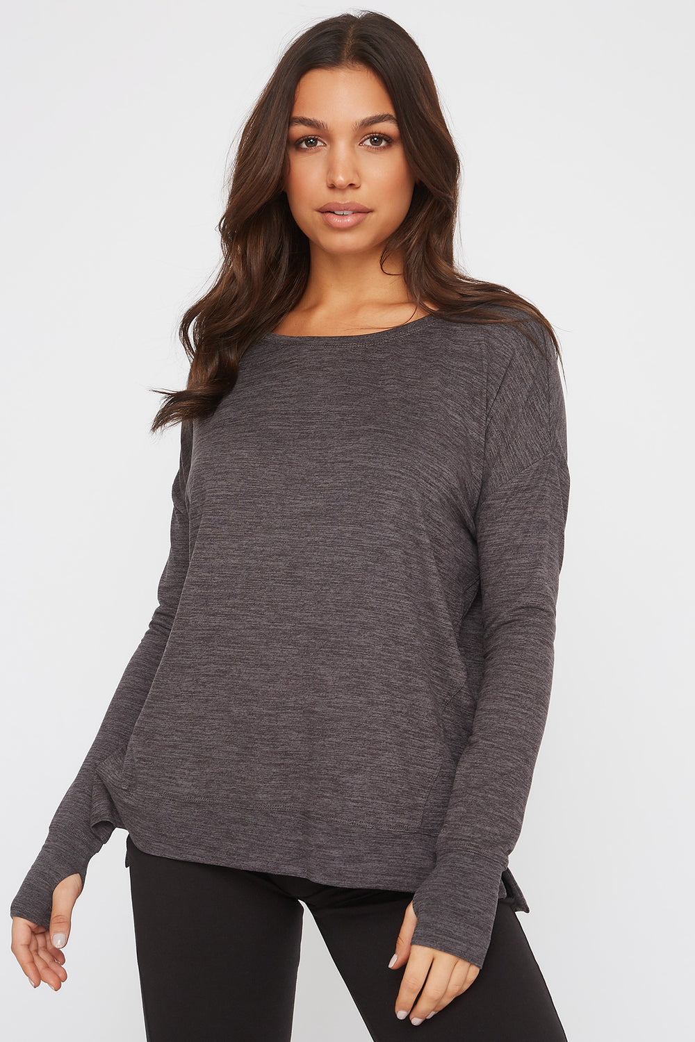 Infinite Oversized Active Long Sleeve Charcoal