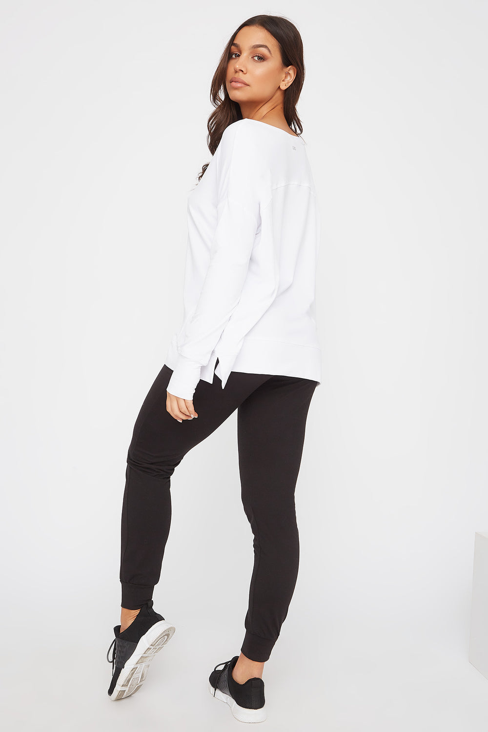 Infinite Oversized Active Long Sleeve White