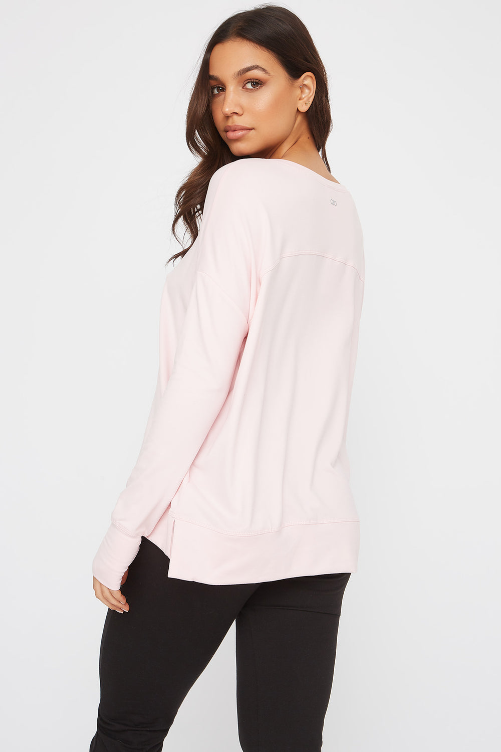 Infinite Oversized Active Long Sleeve Pink