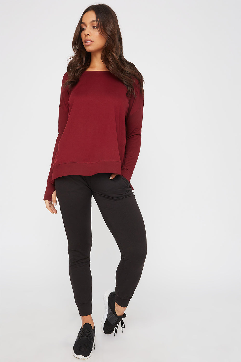 Infinite Oversized Active Long Sleeve Plum