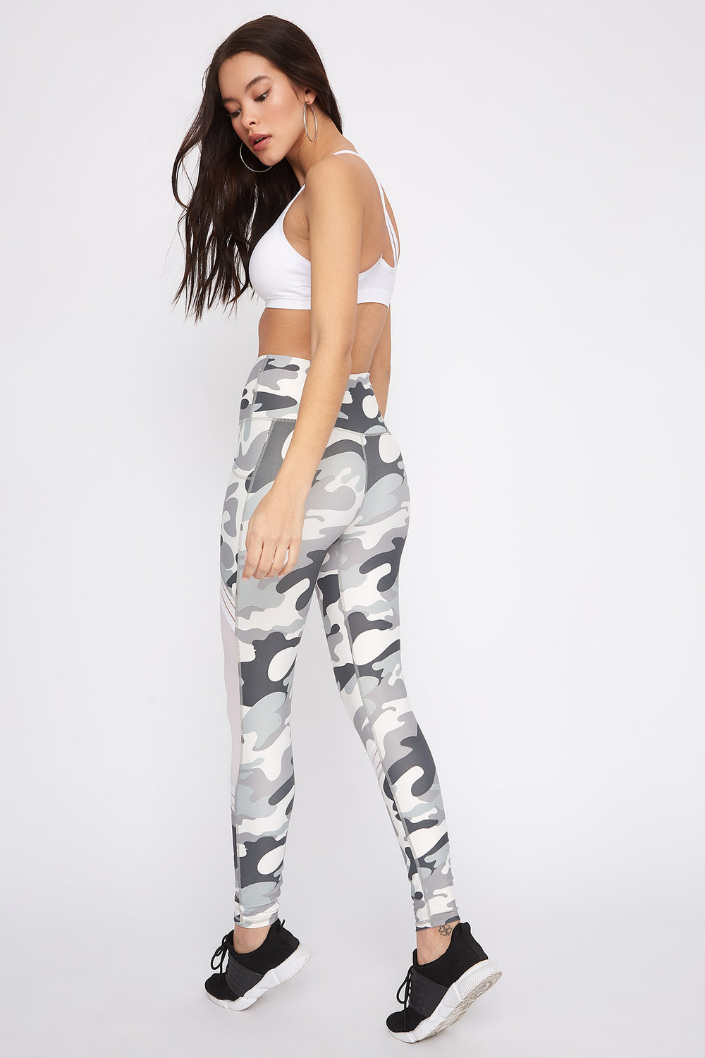 Infinite High-Rise Mesh Slice Active Legging Camouflage