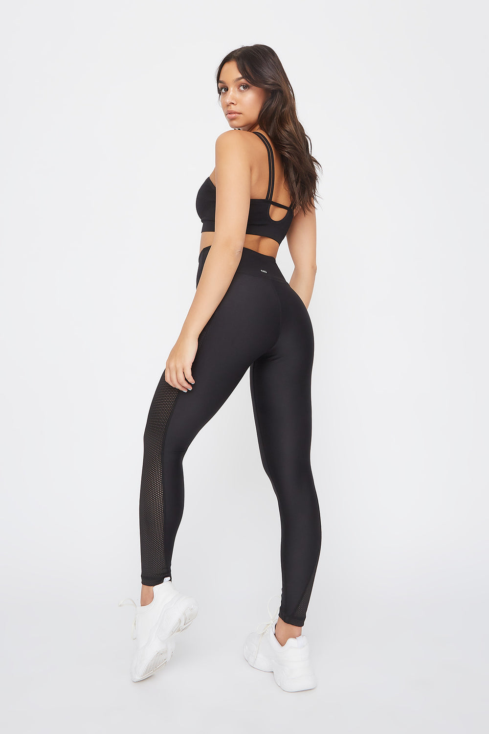 Infinite High-Rise Mesh Insert Active Legging Black