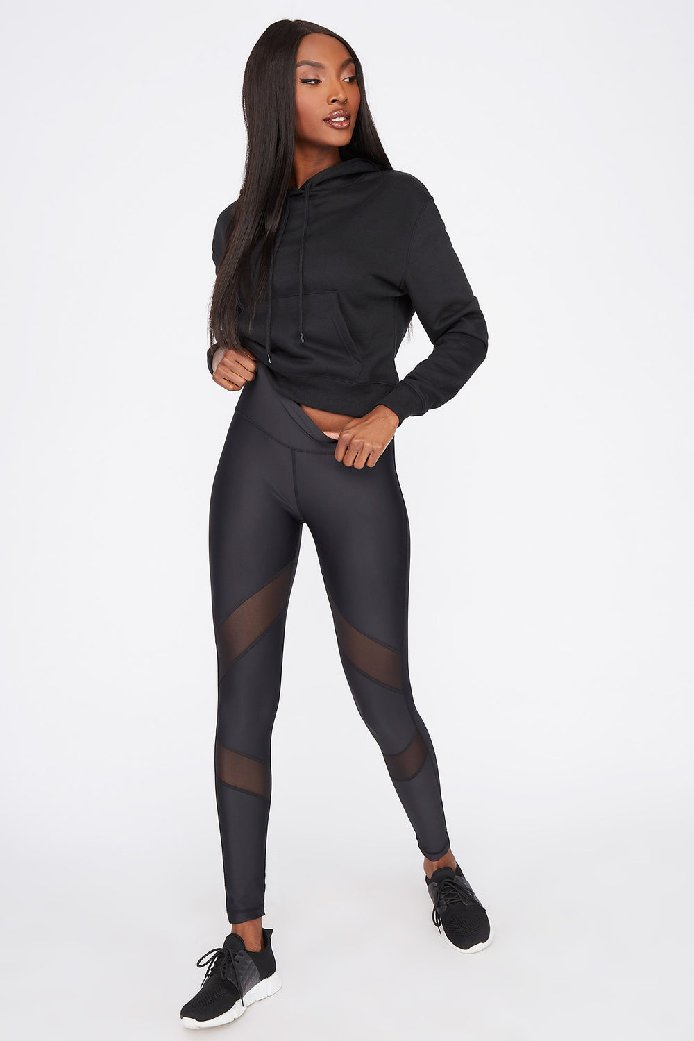 Infinite High-Rise Mesh Panel Active Legging Black