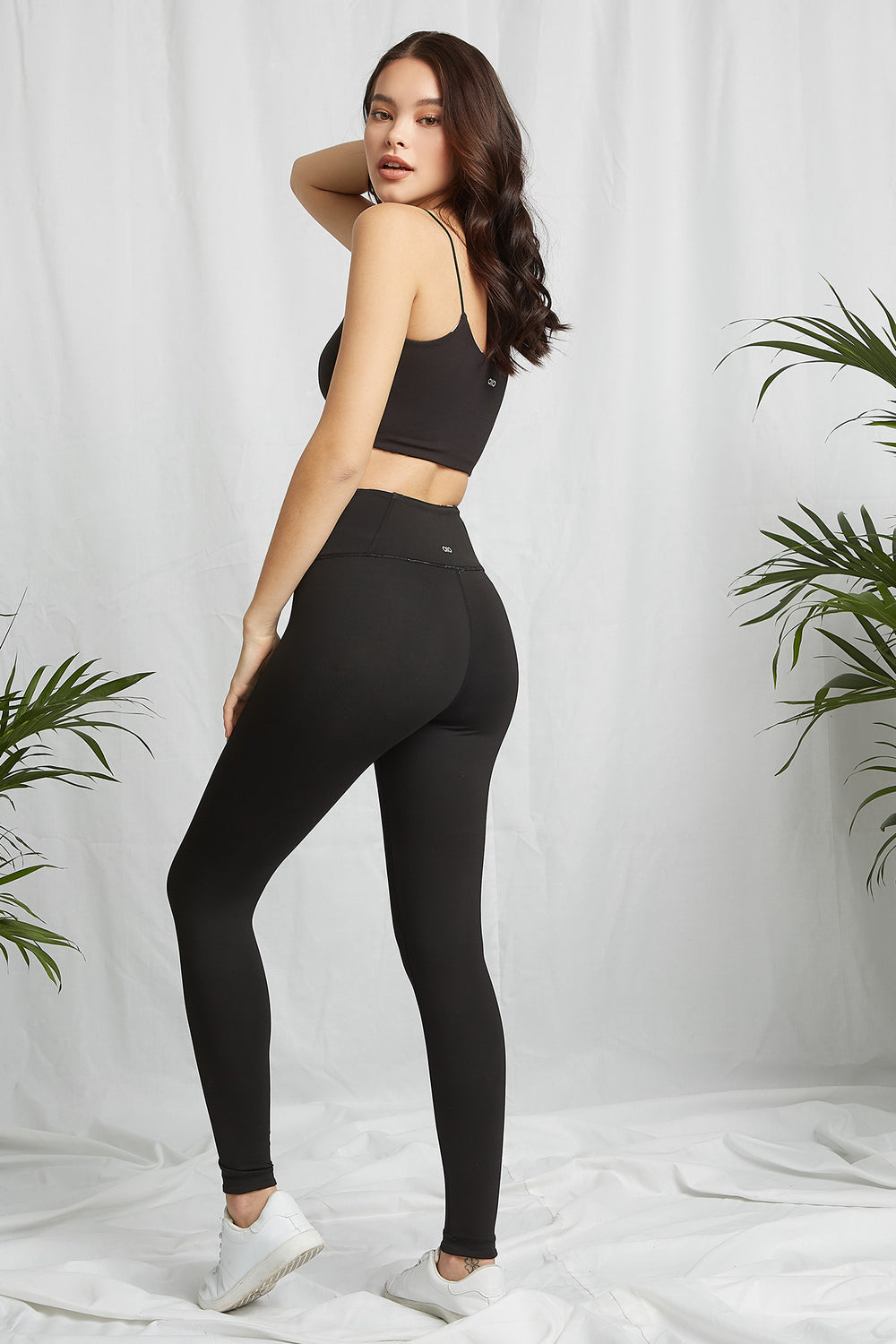 REPREVE® Eco-Friendly Recycled Polyester Reversable Active Legging Black