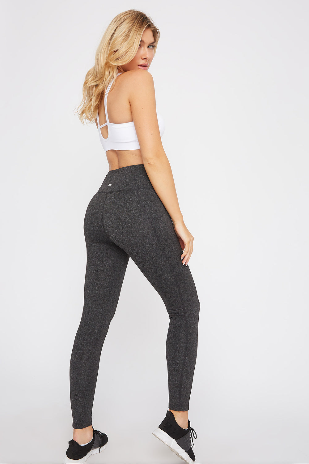 Infinite Dual Pocket High-Rise Active Legging Charcoal