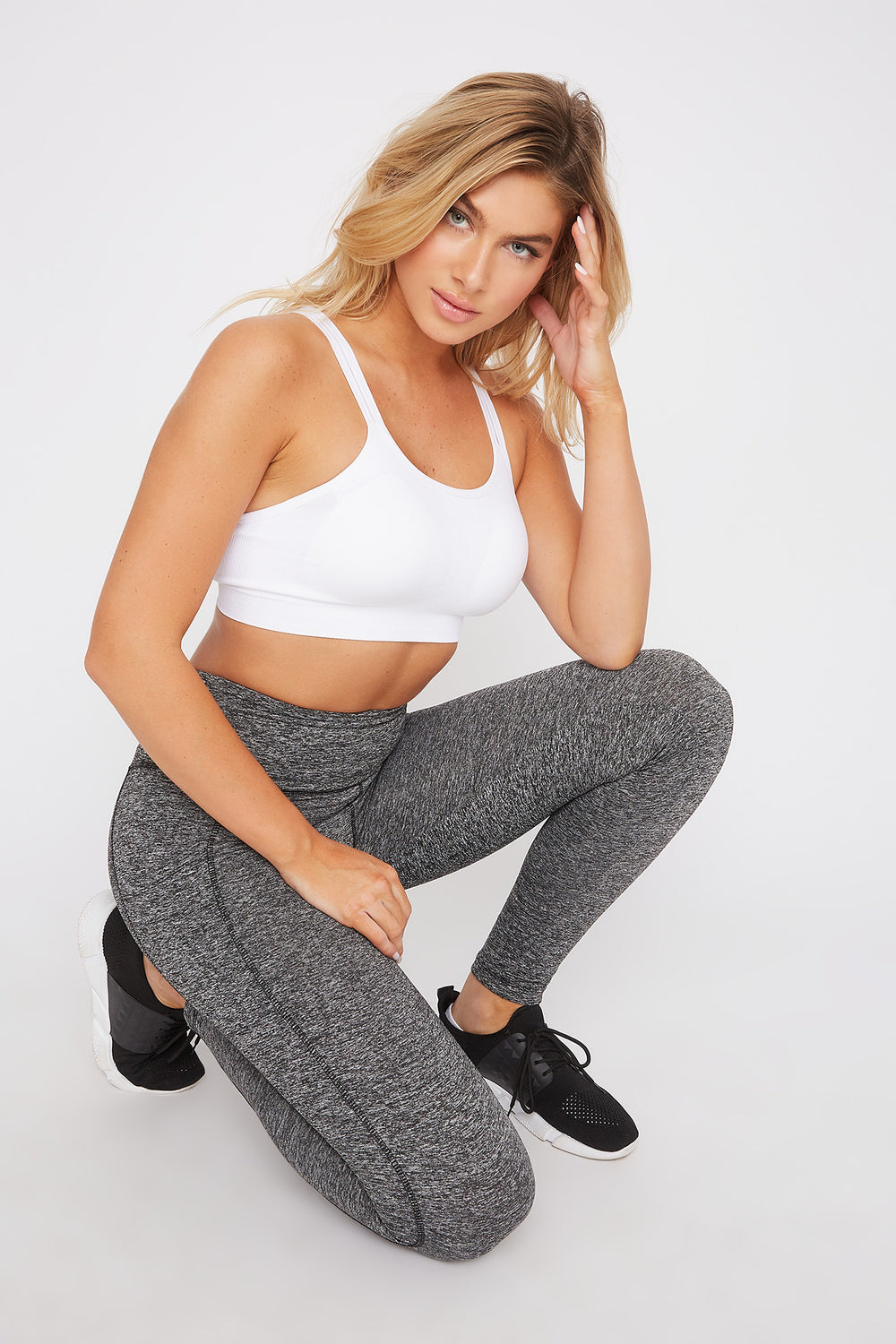 Infinite Dual Pocket High-Rise Active Legging Heather Grey