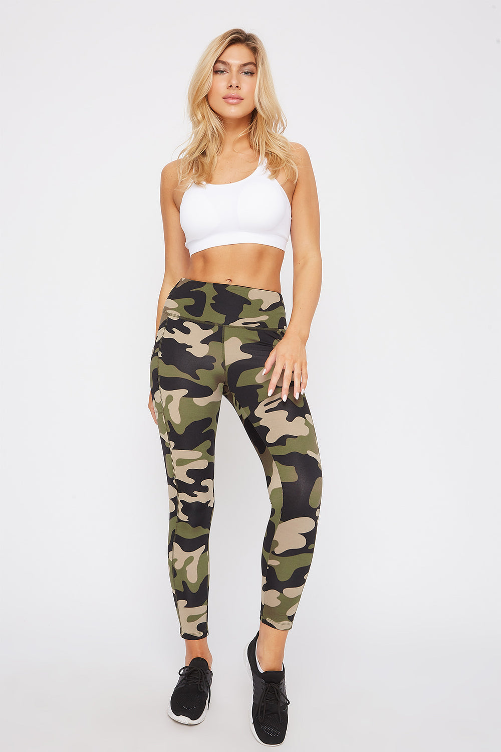 Infinite Dual Pocket High-Rise Active Legging Camouflage