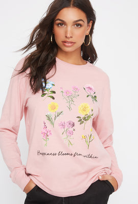 Graphic Floral Long Sleeve