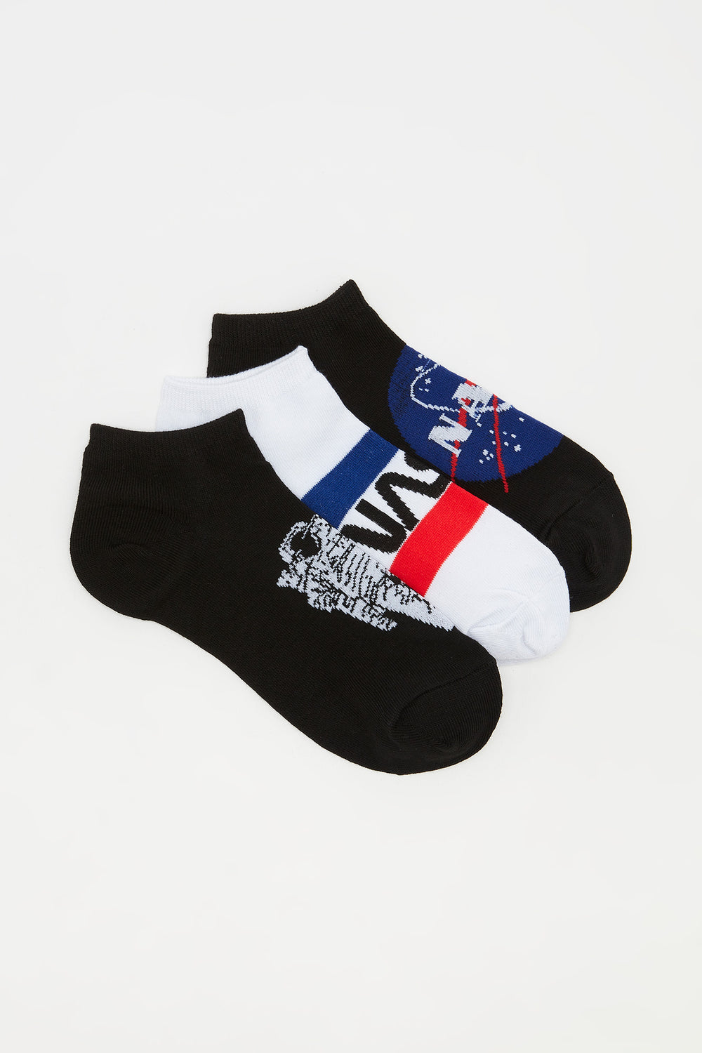 Graphic NASA Ankle Socks (3 Pairs) Assorted