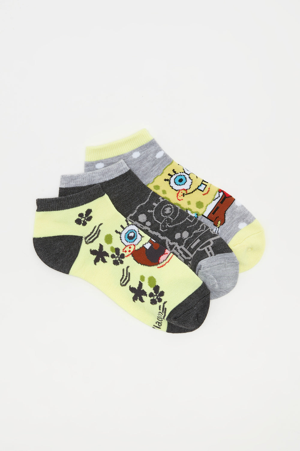 Spongebob Squarepants Ankle Socks (3 Pairs) Assorted