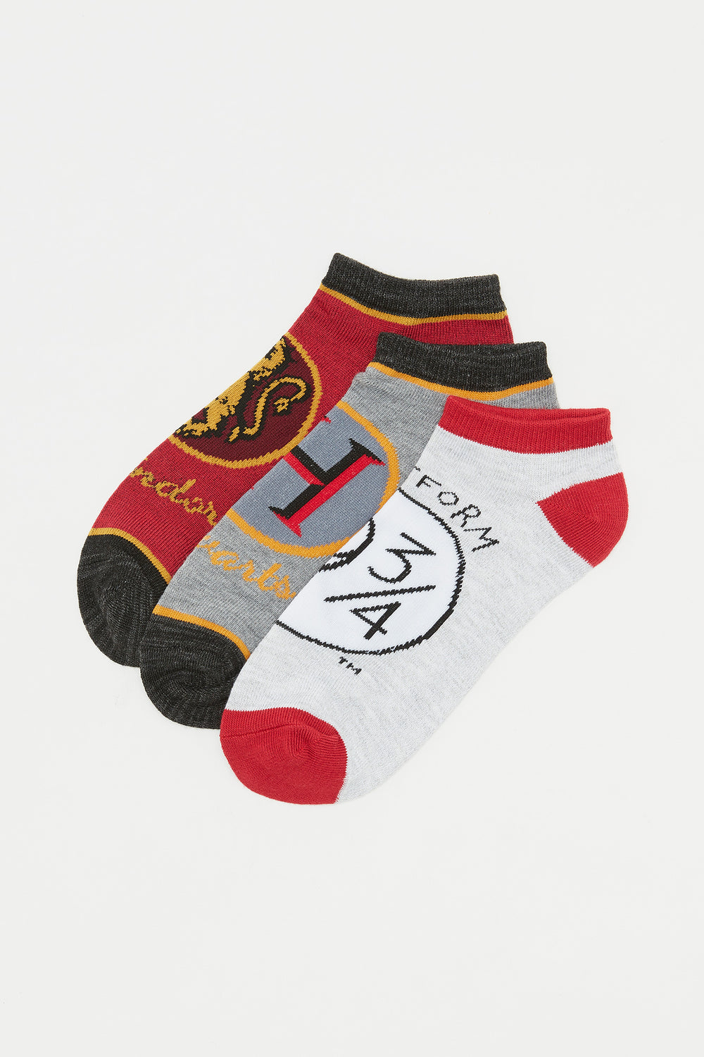 Hogwarts Graphic Ankle Socks (3 Pairs) Assorted