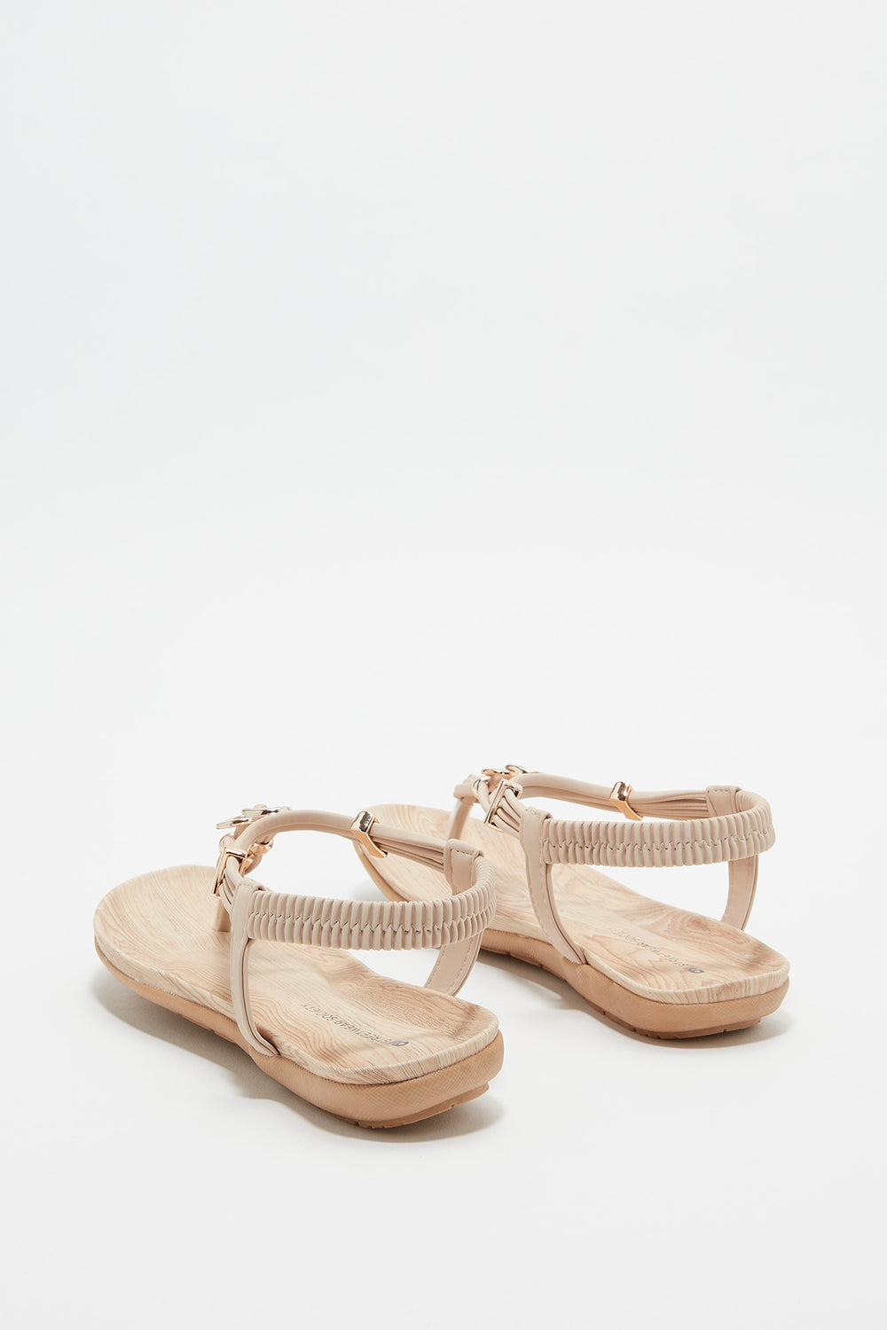 Heart Bead Comfort Sandal Natural