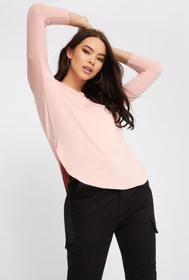 Soft Basic Crew Neck Dolman Long Sleeve