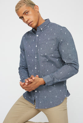 Printed Button-Up Long Sleeve