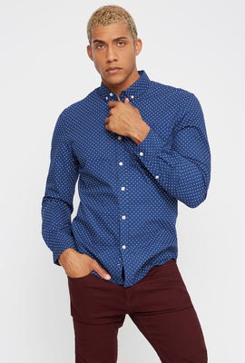 Diamond Button-Up Long Sleeve