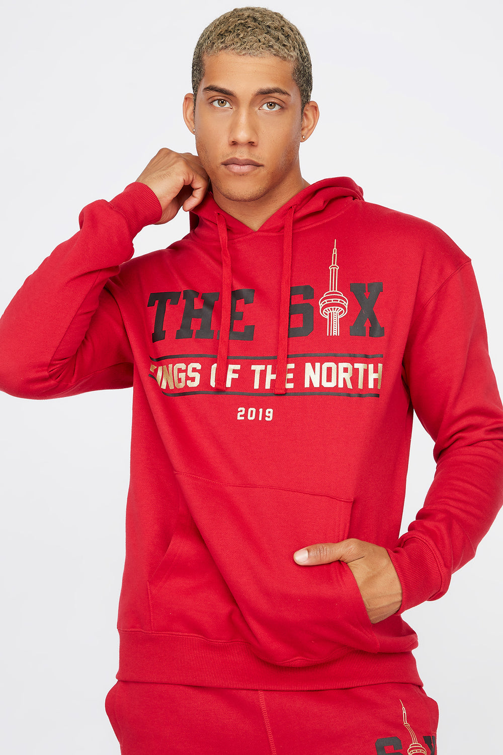 The Six Toronto Graphic Hoodie Red
