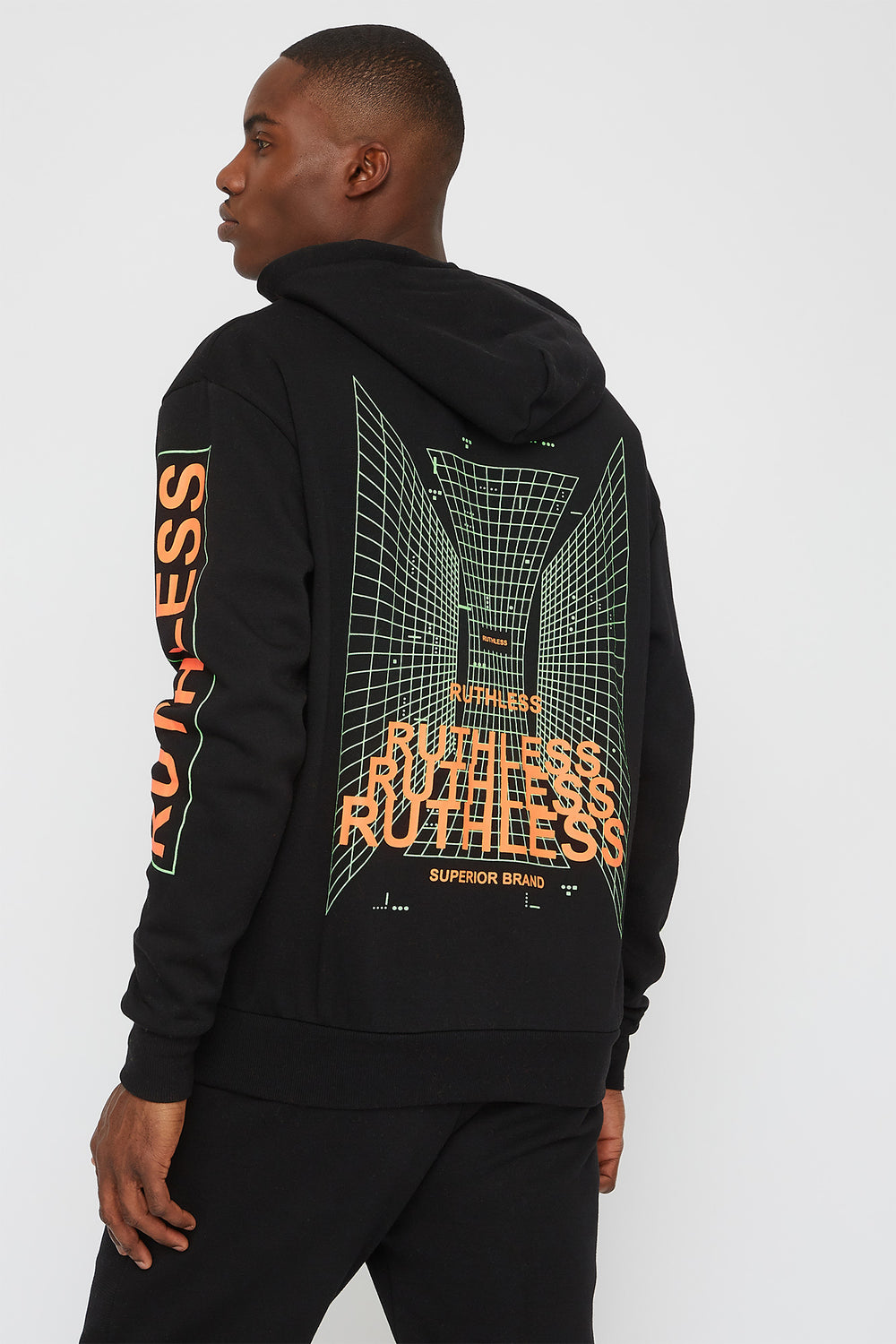 Neon Graphic Hoodie Black
