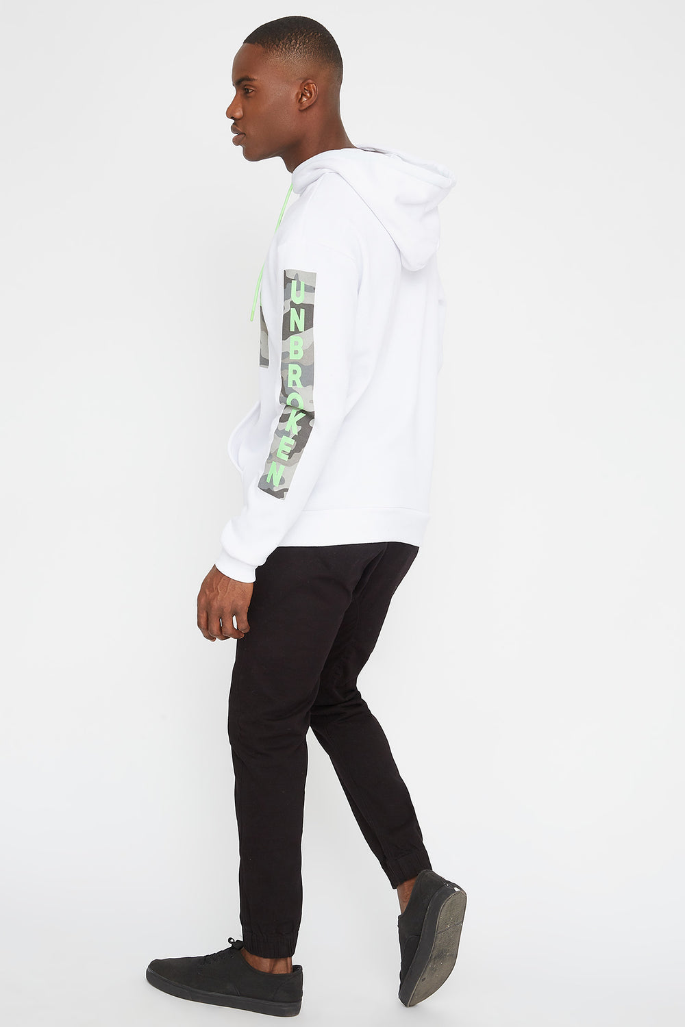 Camo Graphic Hoodie White