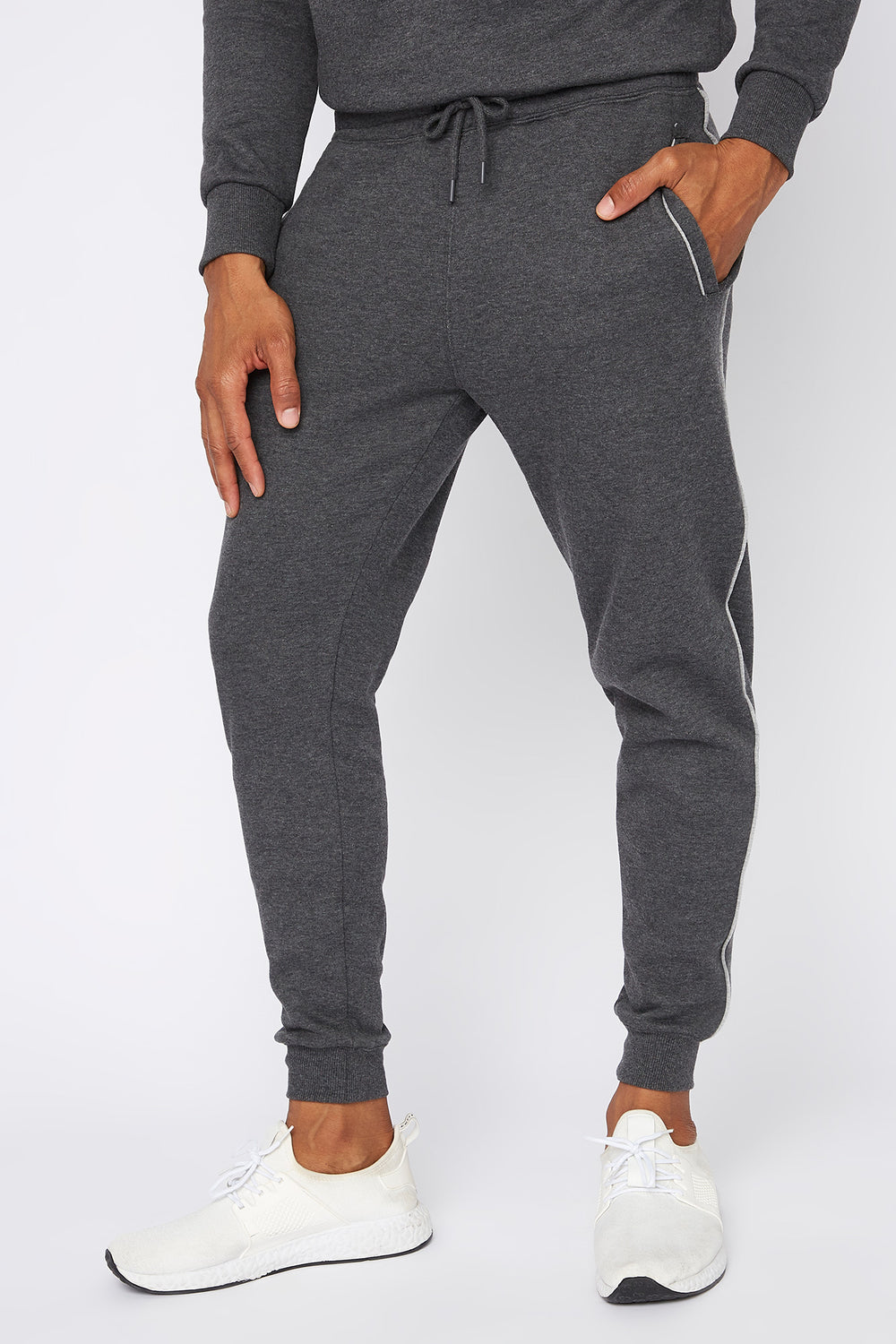 Contrast Stripe Jogger Charcoal