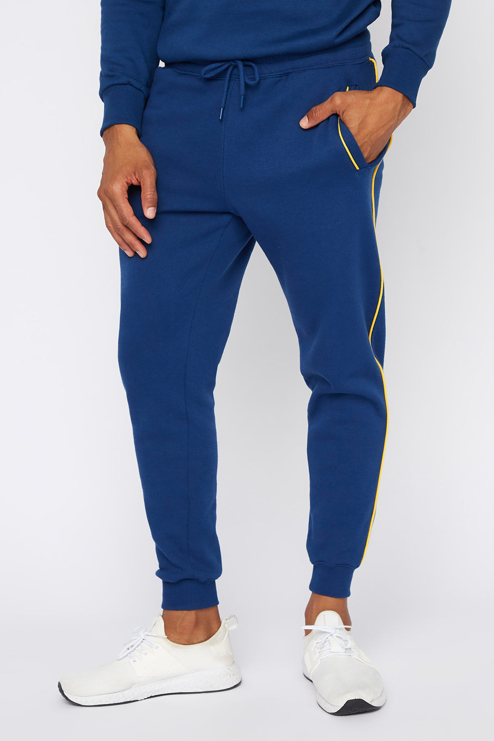 Contrast Stripe Jogger Dark Blue