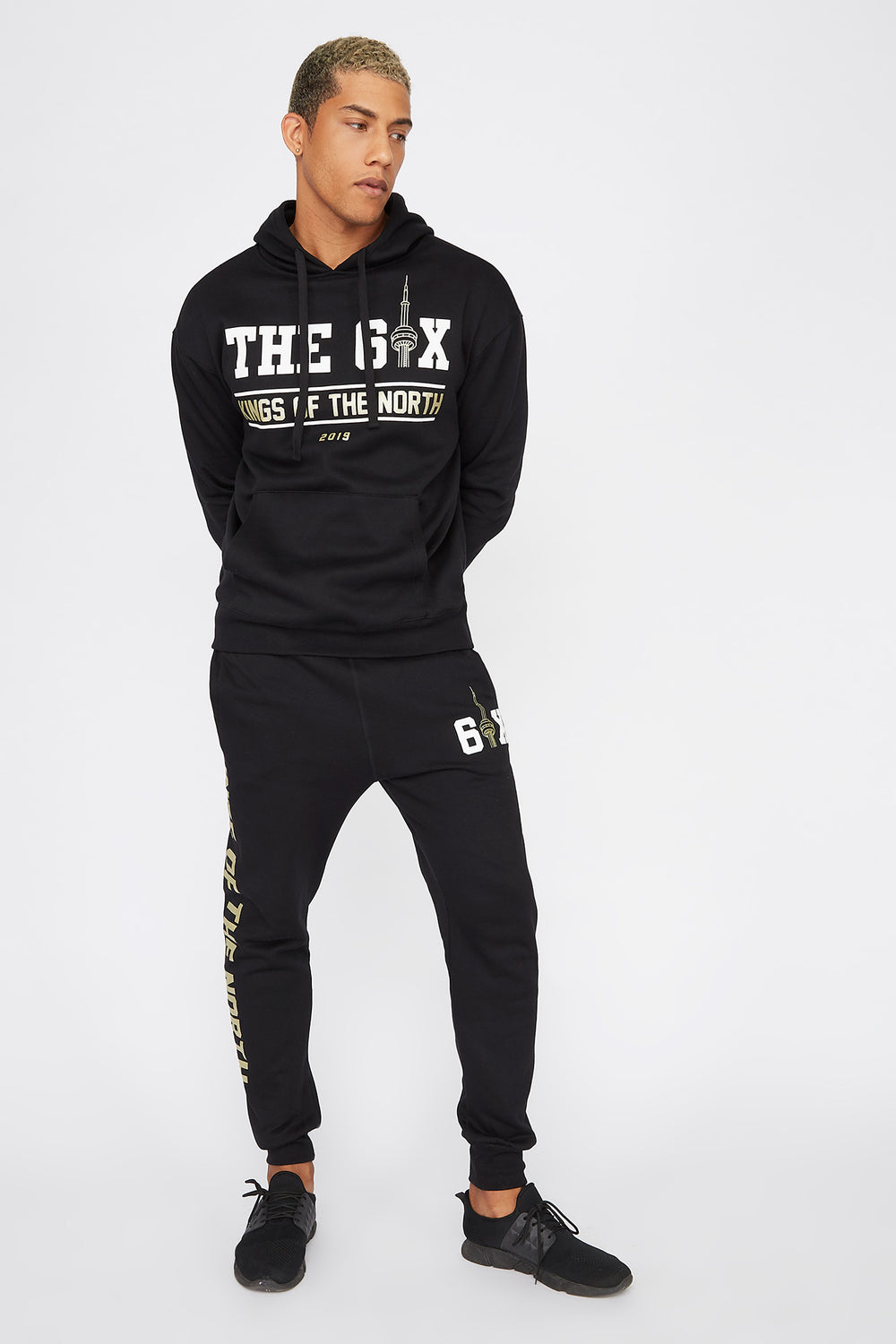 The Six Toronto Graphic Jogger Black
