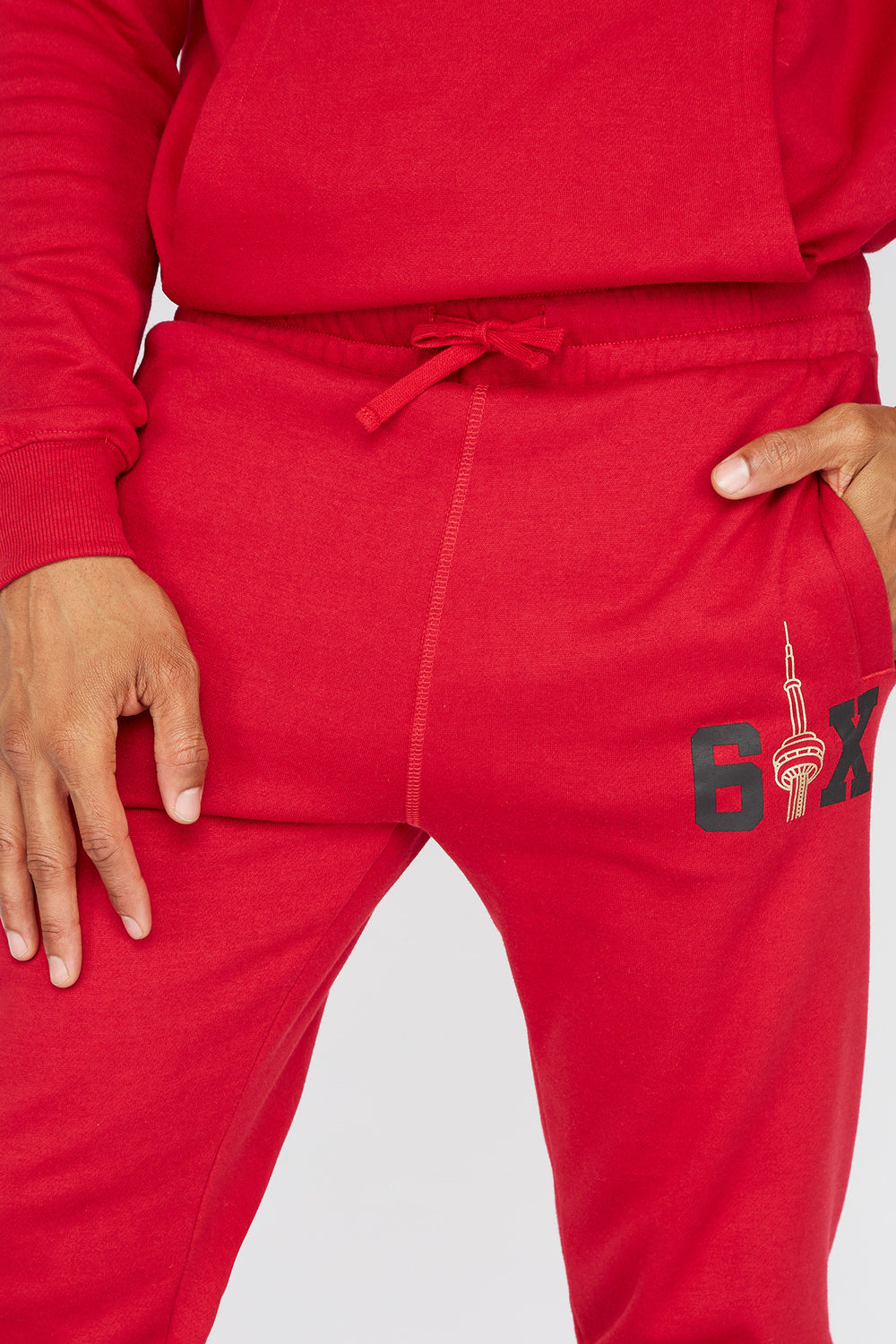 The Six Toronto Graphic Jogger Red