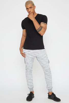 Faux-Leather Insert Jogger