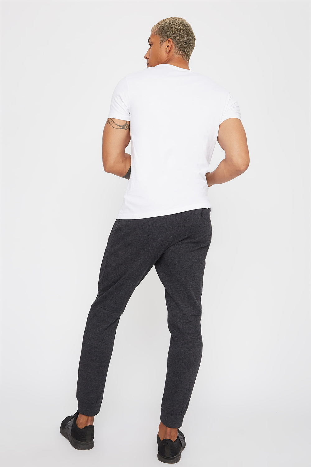 Textured Piped Classic Jogger Charcoal