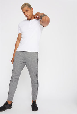 Textured Piped Classic Jogger
