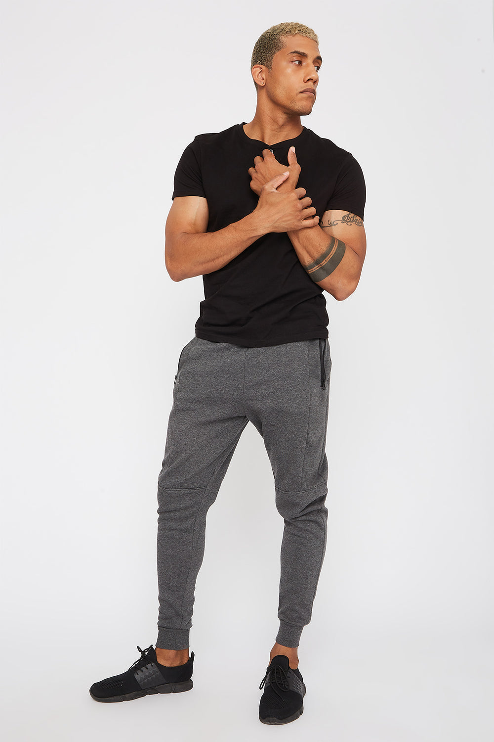 Ribbed Classic Jogger Charcoal