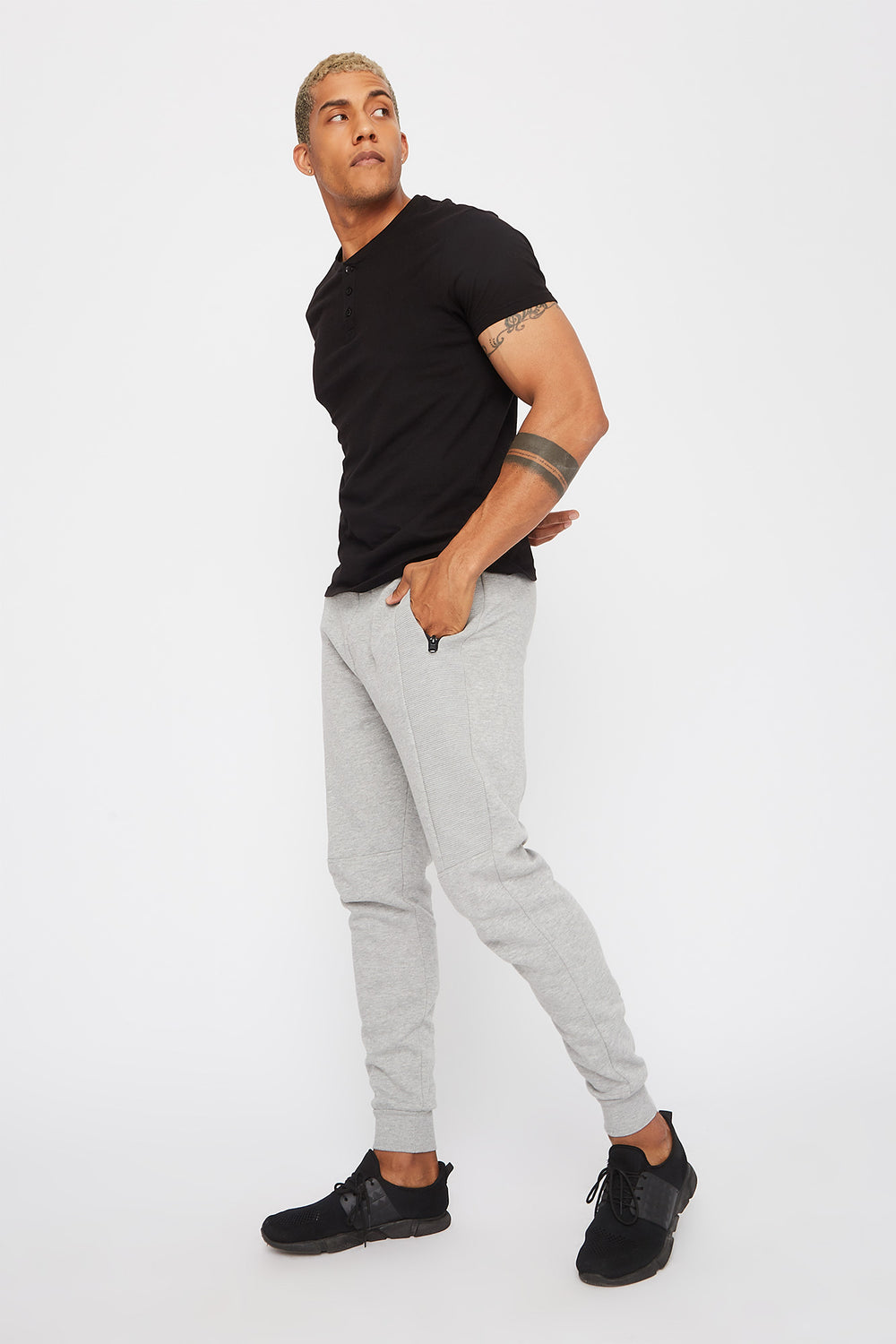 Ribbed Classic Jogger Heather Grey