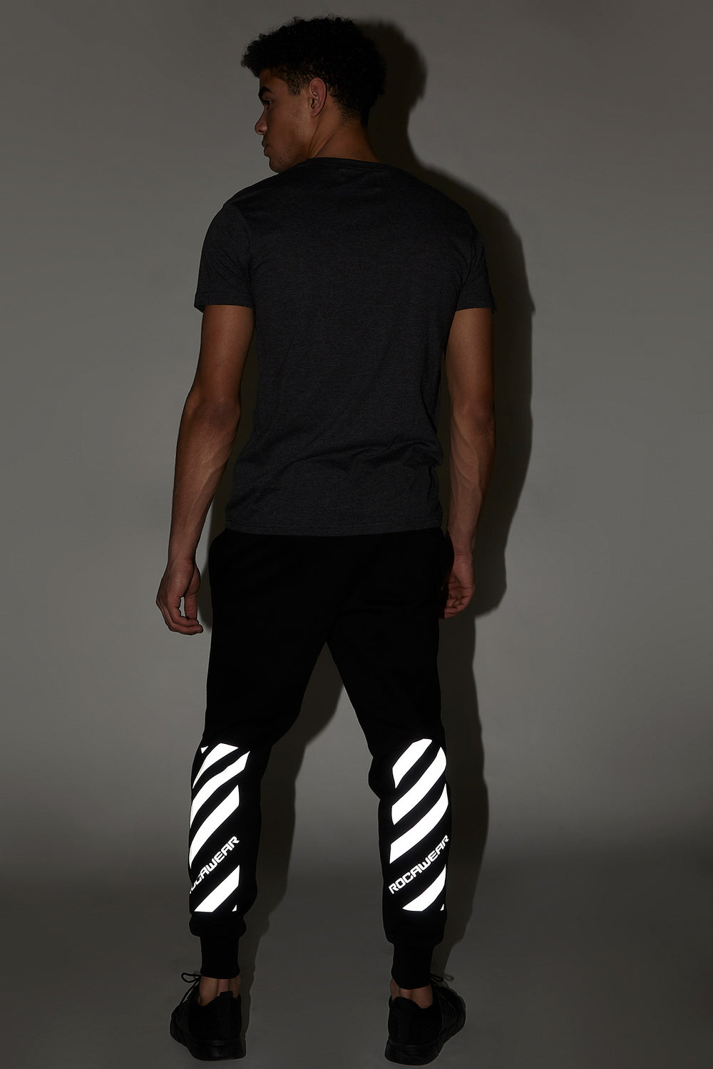 Rocawear Reflective Patch Graphic Jogger Black