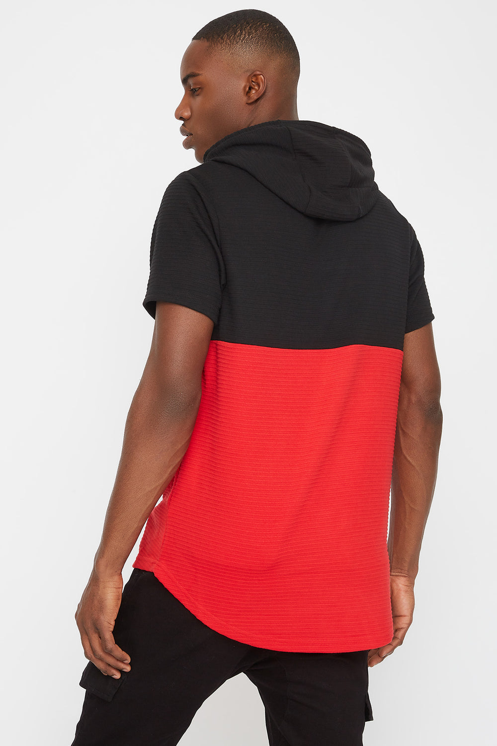 Rocawear Colour Block Hooded T-Shirt Black
