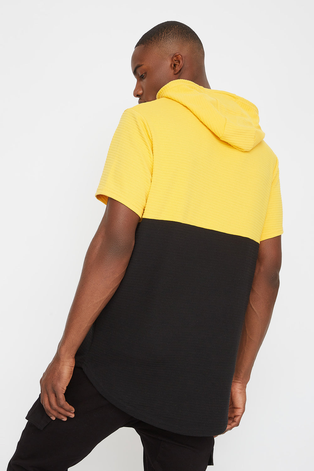 Rocawear Colour Block Hooded T-Shirt Yellow
