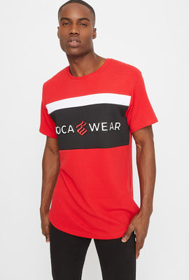 Rocawear Embossed Colour Block T-Shirt