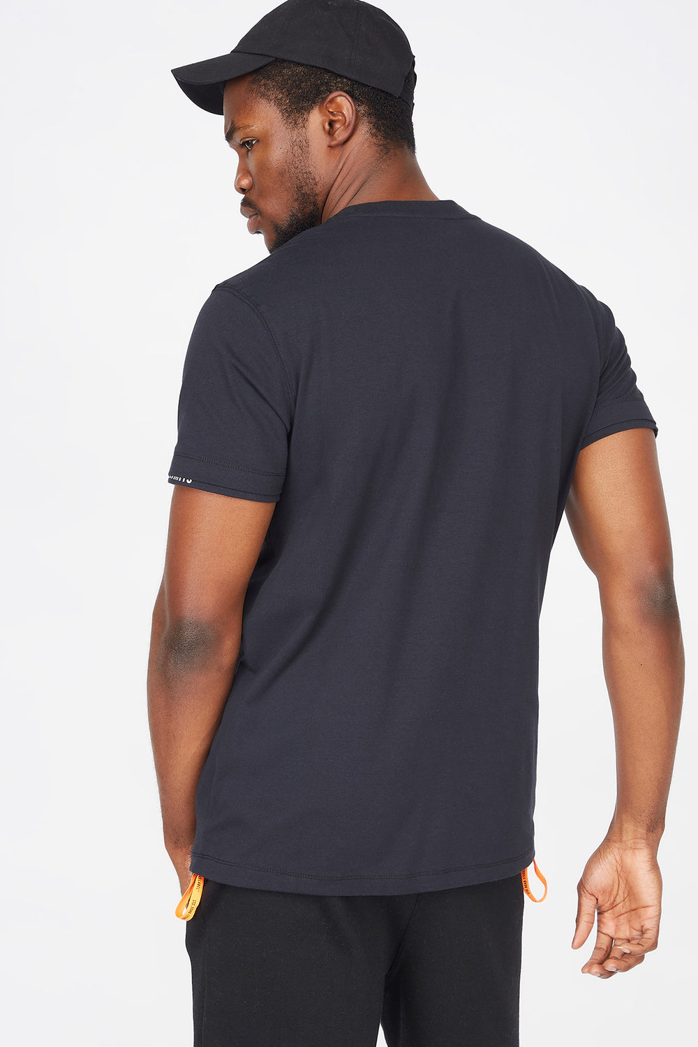 Chest Pocket Crew Neck T-Shirt Black
