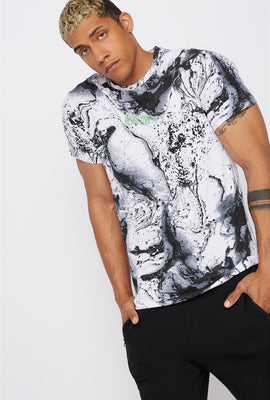 Neon Graphic Marble T-Shirt