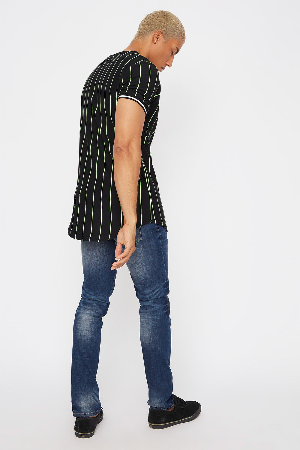 Graphic Stripe T-Shirt Black
