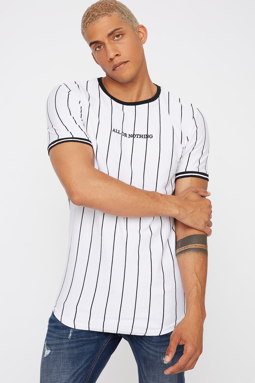 Graphic Stripe T-Shirt White