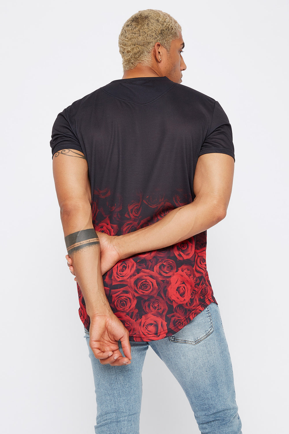 Rocawear Rose Hem T-Shirt Black