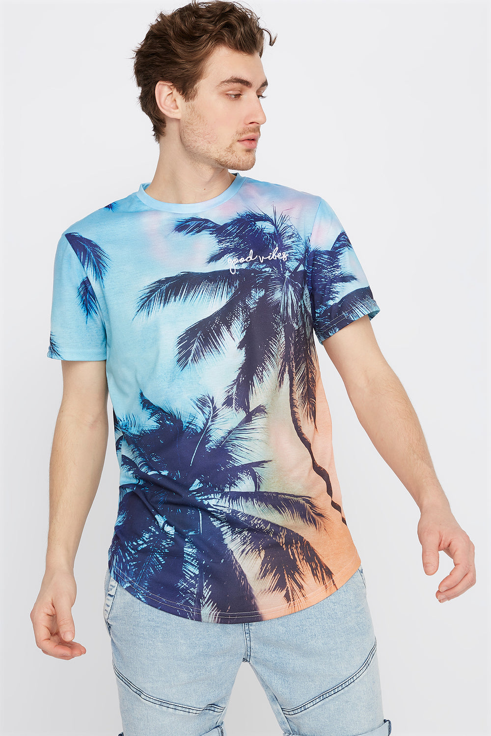Graphic Good Vibes Tropical T-Shirt Multi