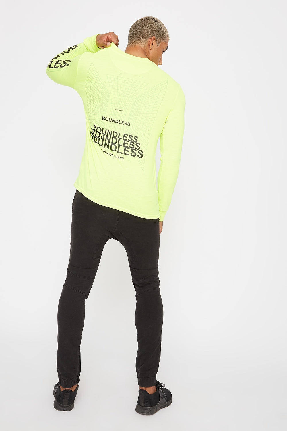Neon Graphic Long Sleeve Neon Yellow