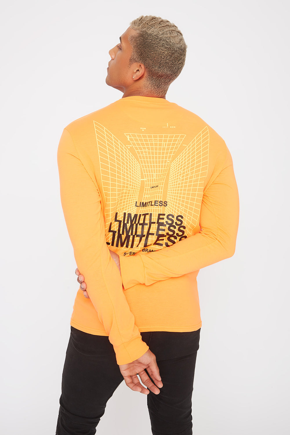 Neon Graphic Long Sleeve Neon Orange