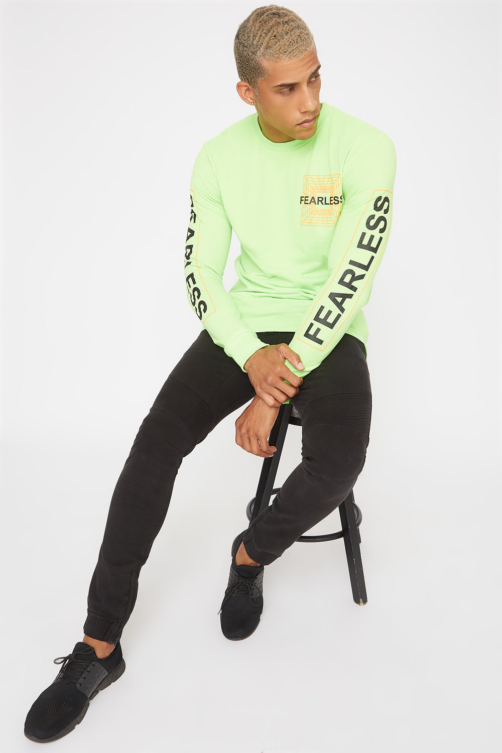 Neon Graphic Long Sleeve Neon Green